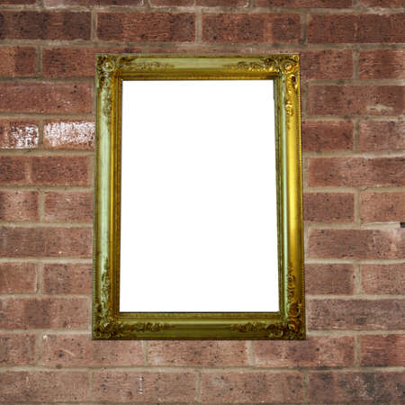 picture frame on wall to put your own pictures in Stock Photo - 16239027