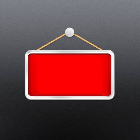 red hanging sign Stock Photo - 16277027
