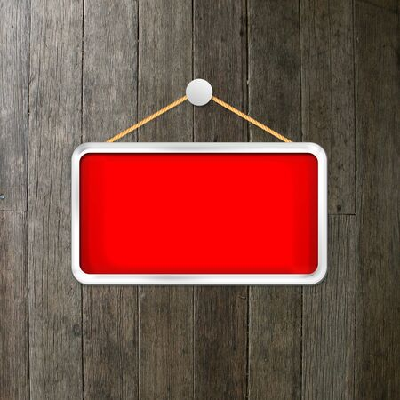 red hanging sign Stock Photo - 16277084