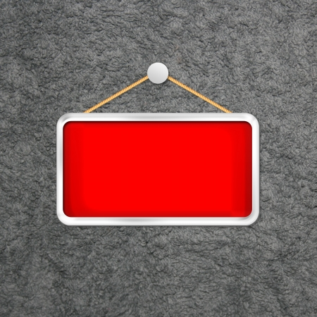 red hanging sign Stock Photo - 16277061