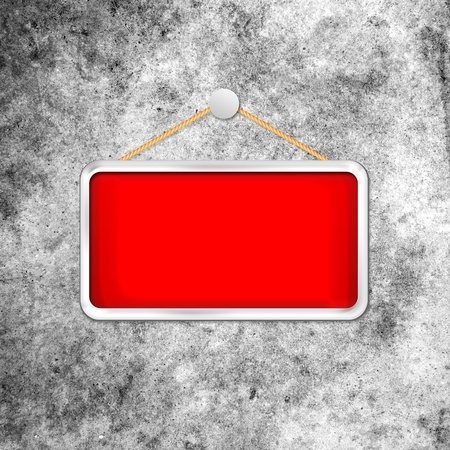 red hanging sign photo