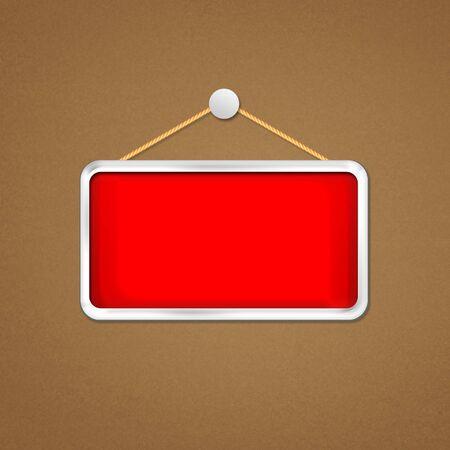 doorhandle: red hanging sign