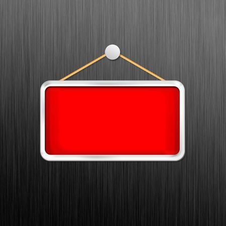 red hanging sign Stock Photo - 16277030