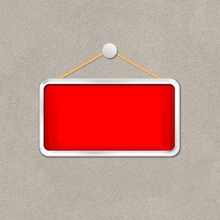 red hanging sign Stock Photo - 16277150