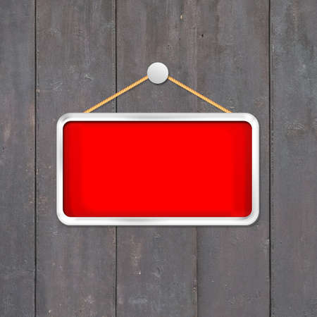 red hanging sign Stock Photo - 16277074