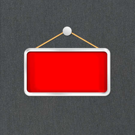 red hanging sign Stock Photo - 16277175