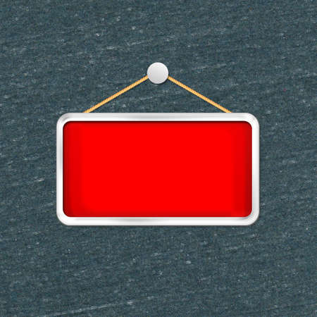red hanging sign Stock Photo - 16277176