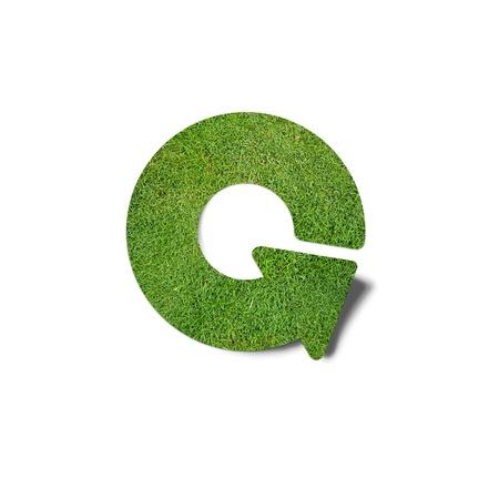 green grass arrow Stock Photo - 19243417