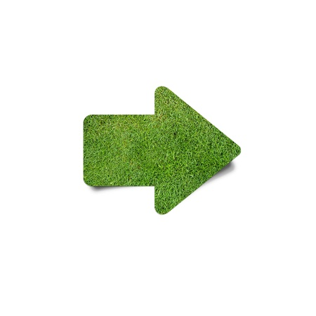 green grass arrow Stock Photo - 19243414