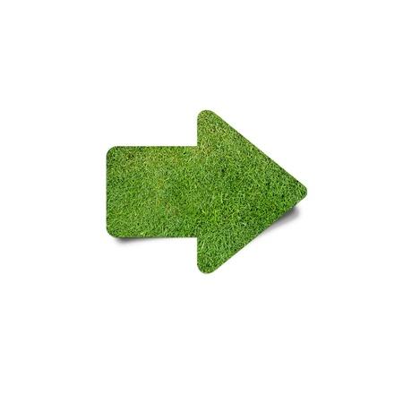 green arrow: green grass arrow