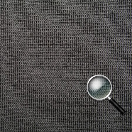 low scale magnification: magnifying glass Stock Photo