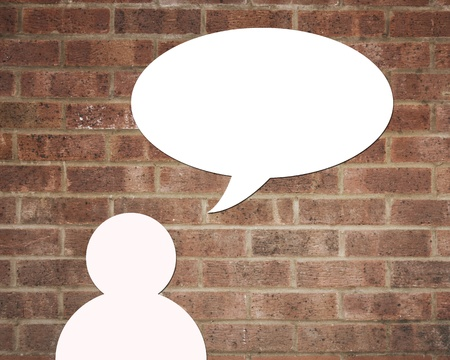 Dialog speech bubbles  photo