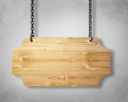 wooden signboard: wooden sign hanging