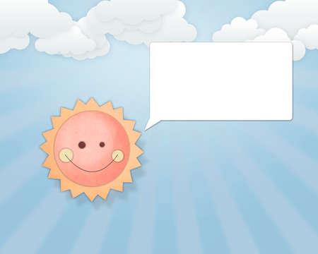 Sun sea paper Stock Photo
