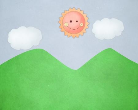 Sun paper photo