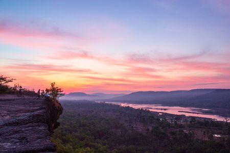 Sunrise in Pha Taem National Park Ubon Ratchathani Thailand  photo