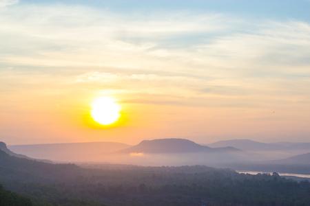 Sunrise in Pha Taem National Park Ubon Ratchathani Thailand