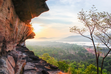 Sunrise in Pha Taem National Park Ubon Ratchathani Thailand