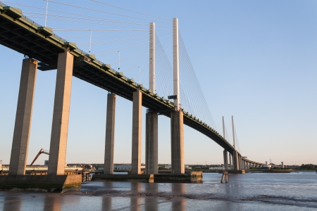 Cable Stayed bridge Dartford Kent  Stock Photo
