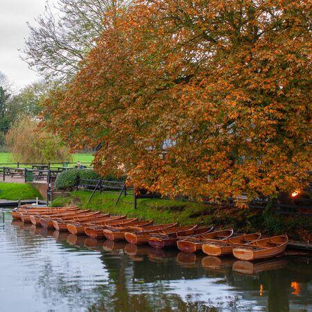 Hire boats at Dedham Essex uk Stock Photo - 17177318
