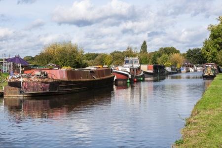 canal boat scene uk
