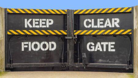 withhold: flood defence barrier