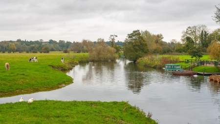landscape background dedham essex uk countryside