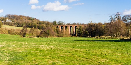 english countryside landscape kent uk Eynsford viaduct Stock Photo - 18676158