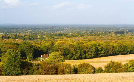 english countryside landscape guildford surrey uk Stock Photo