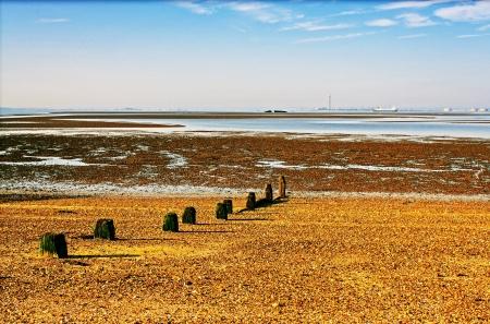 River Thames estuary to Isle of Grain on the horizon