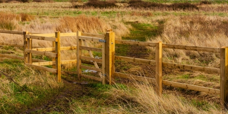 kissing gate Stock Photo