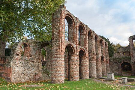 Roman ruins colchester essex uk Stock Photo