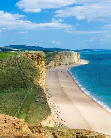 Jurassic coast Dorset, freshwater beach,East cliff looking East