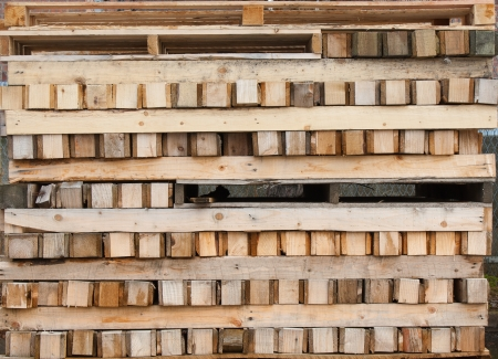 wood, timber pallets Stock Photo