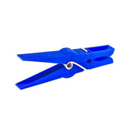 blue laundry peg Stock Photo
