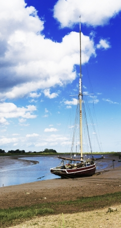 maldon essex uk sailing boat Stock Photo