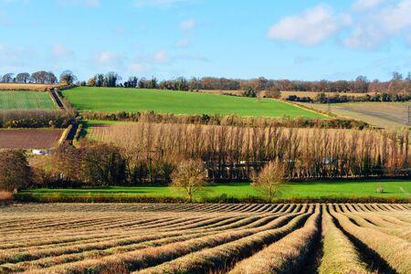 english countryside scene Stock Photo