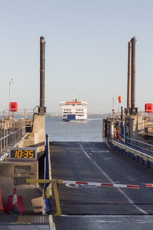 ferry approching dock