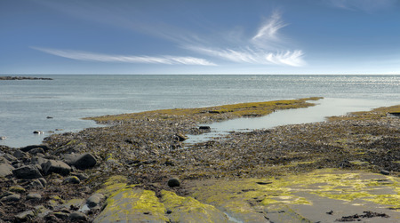 kimmeridge bay: Much loved destination for tourists and geologists alike on the jurassic coast. Stock Photo