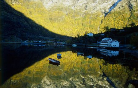 morning in Flam, Norway