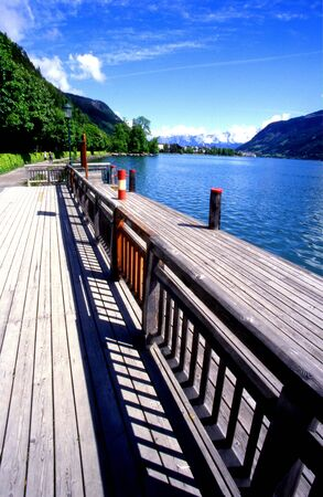 Lake in Zell Am See, Austria Stock Photo