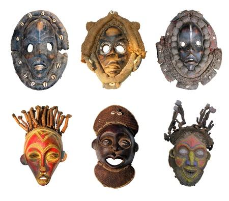 Die ursprünglichen afrikanischen Masken, die traditionelle Art Standard-Bild