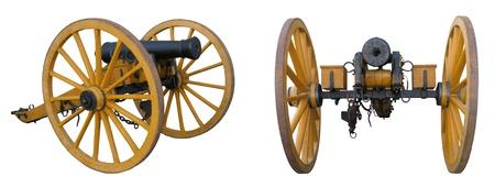 cannon gun: Cannon, museum piece Stock Photo