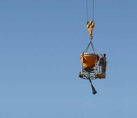 Man on crane photo