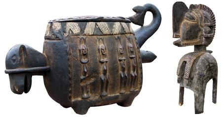 Original, handmade African sculptures and masks Stock Photo - 13664735
