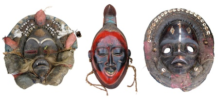 african mask: The original African masks, made the traditional way