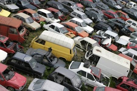 salvage yard: Car scrap, scrap metal, recycling