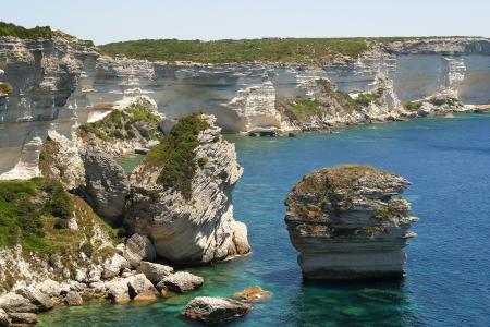 Corsica Bonifacio a town in Corsica, France photo