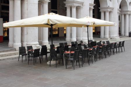 Bar om the Piazza dei Signori Vicenza photo