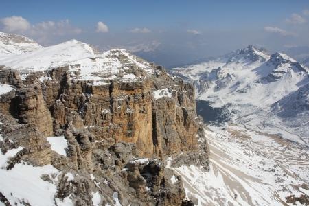 fassa: Ski resort of Val di Fassa, Dolomites, Italy